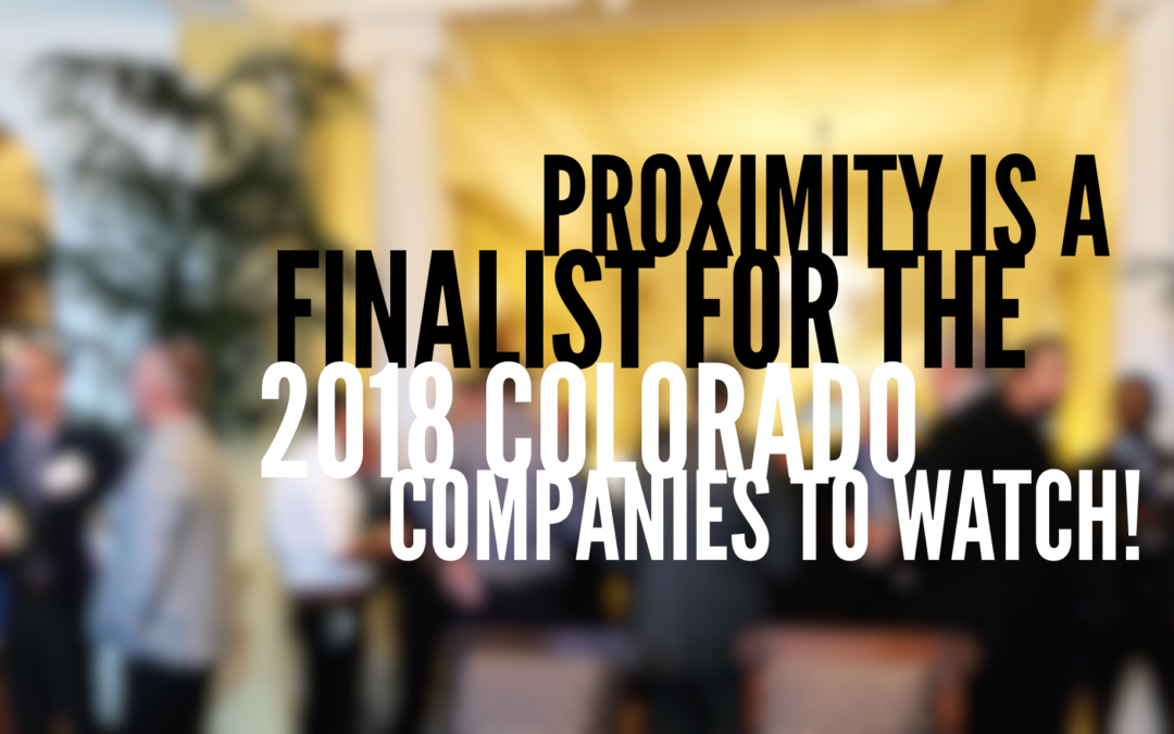 We're a finalist for Colorado Companies to Watch