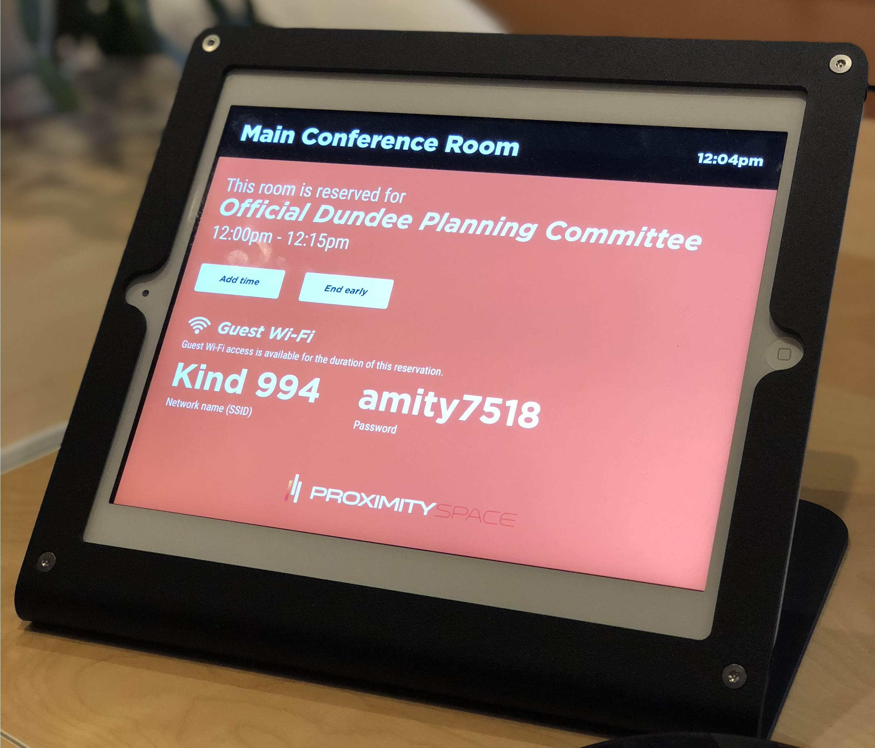 Main Conference Room View Showing Proximity Software