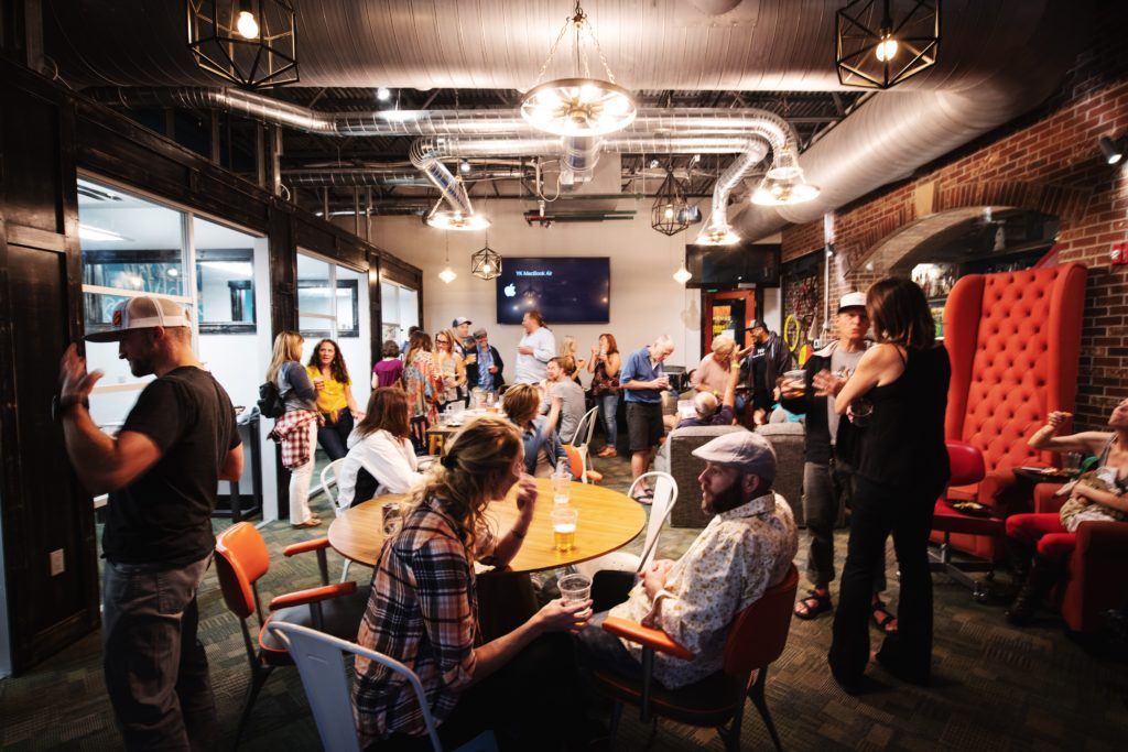 A networking event at Colorado Workspace