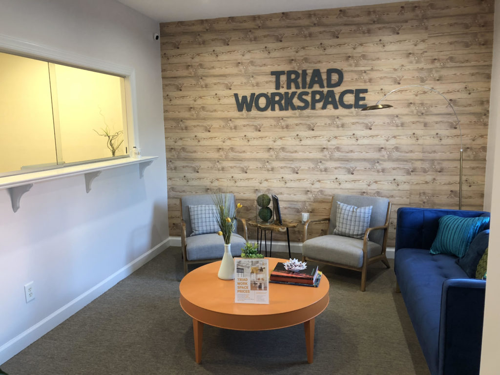 Entryway Lounge for Triad Workspace