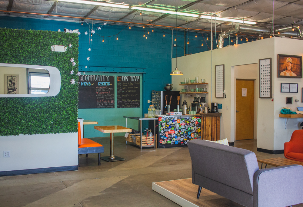 Kitchen and Lounge at Wayfinder Co-op