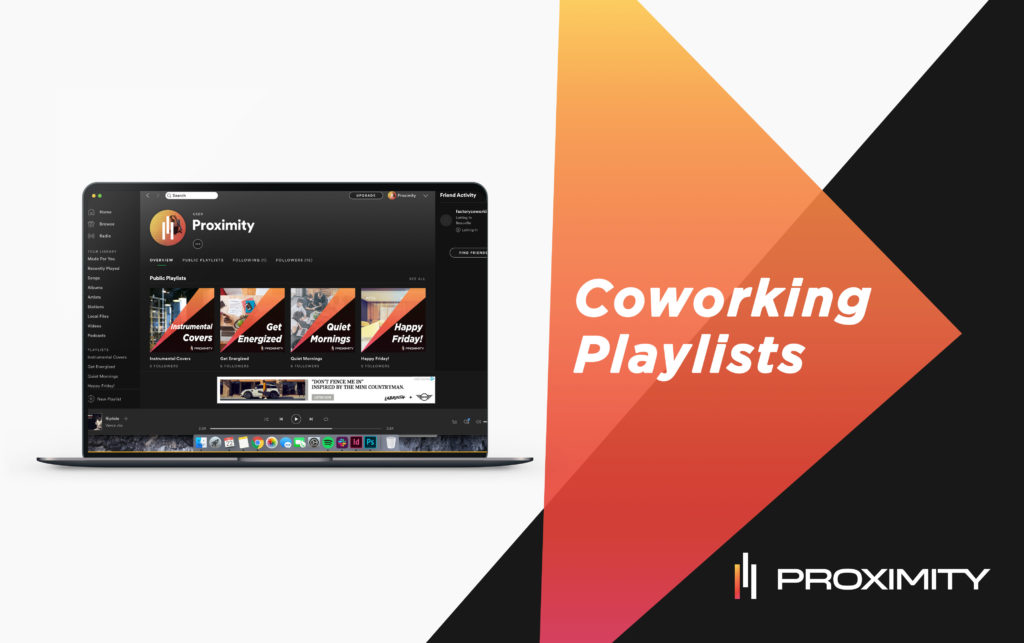 playlists for coworking space