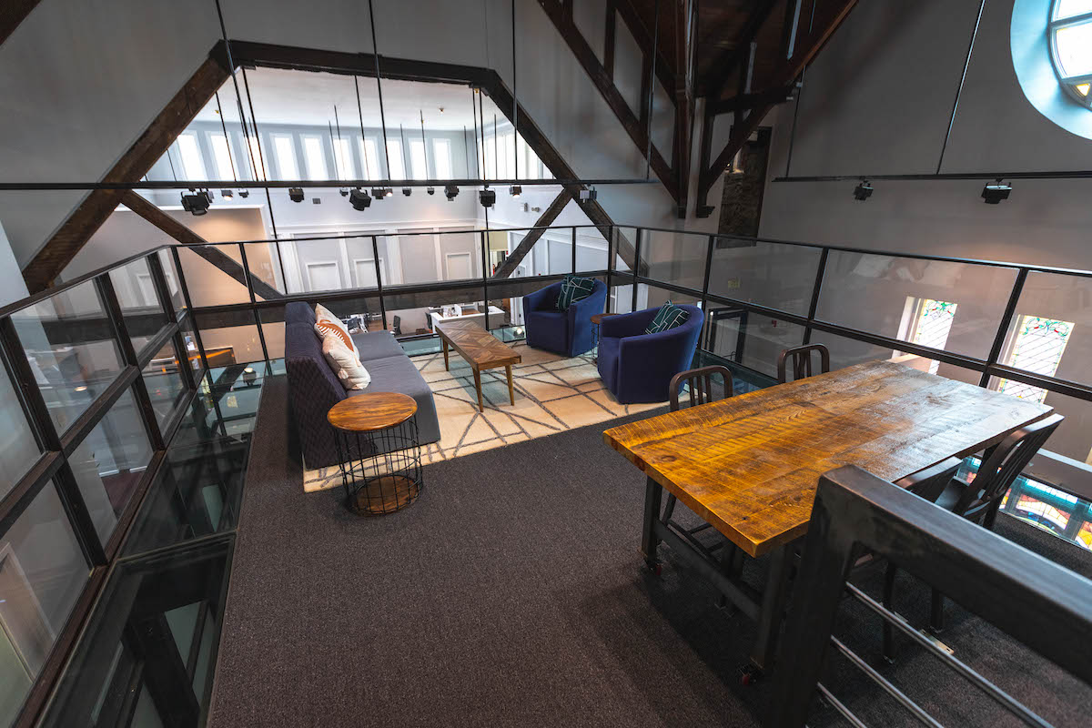 Top floor of Co-Balt coworking space
