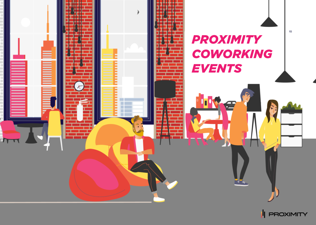 Proximity Coworking Events Graphic