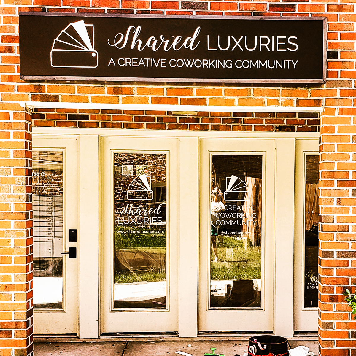 Shared Luxuries coworking community space entrance
