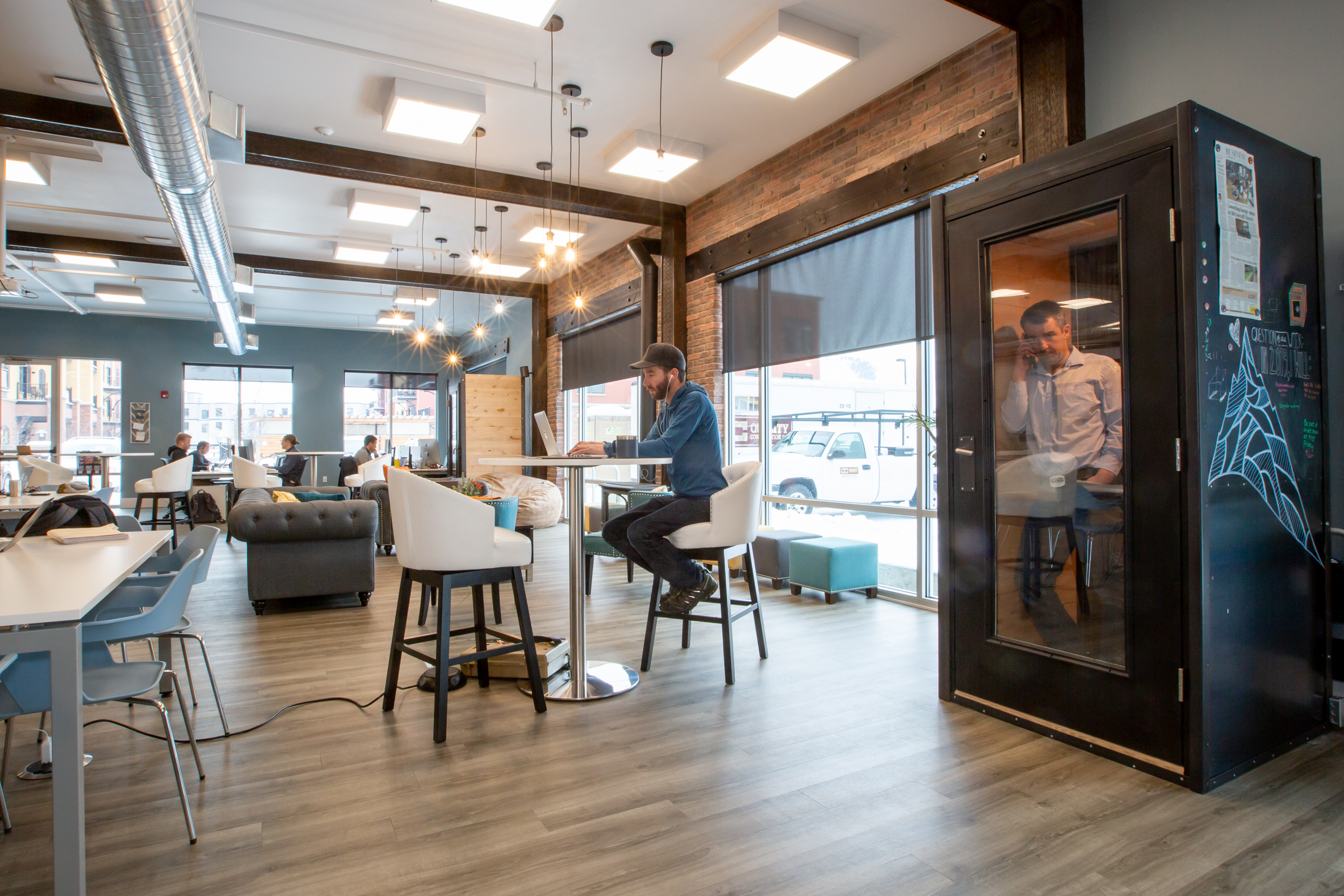 Coworking Space in Montana named C3 WorkLounge shared workspace