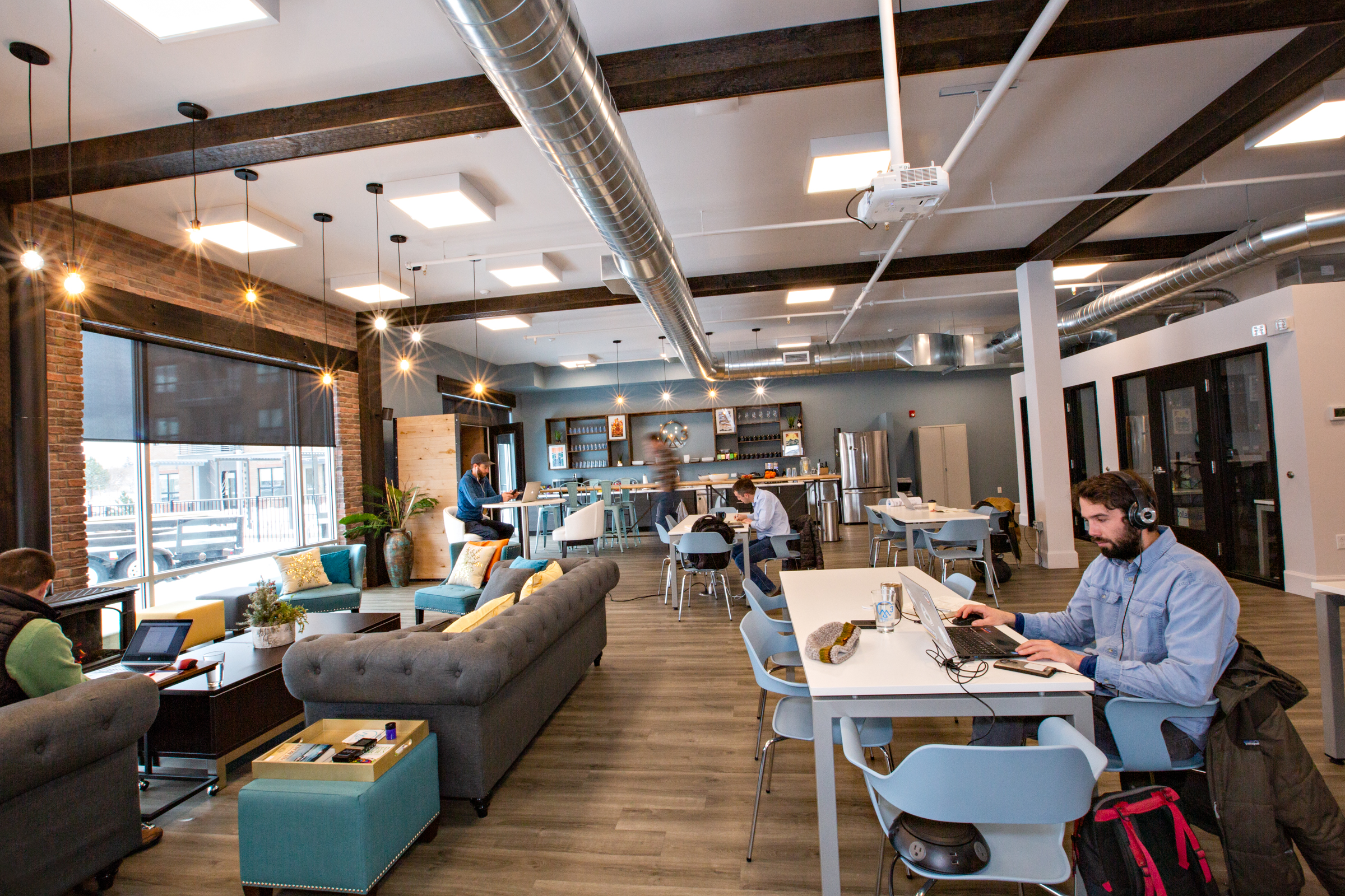 Coworking space in Missoula, Montana. Community Area