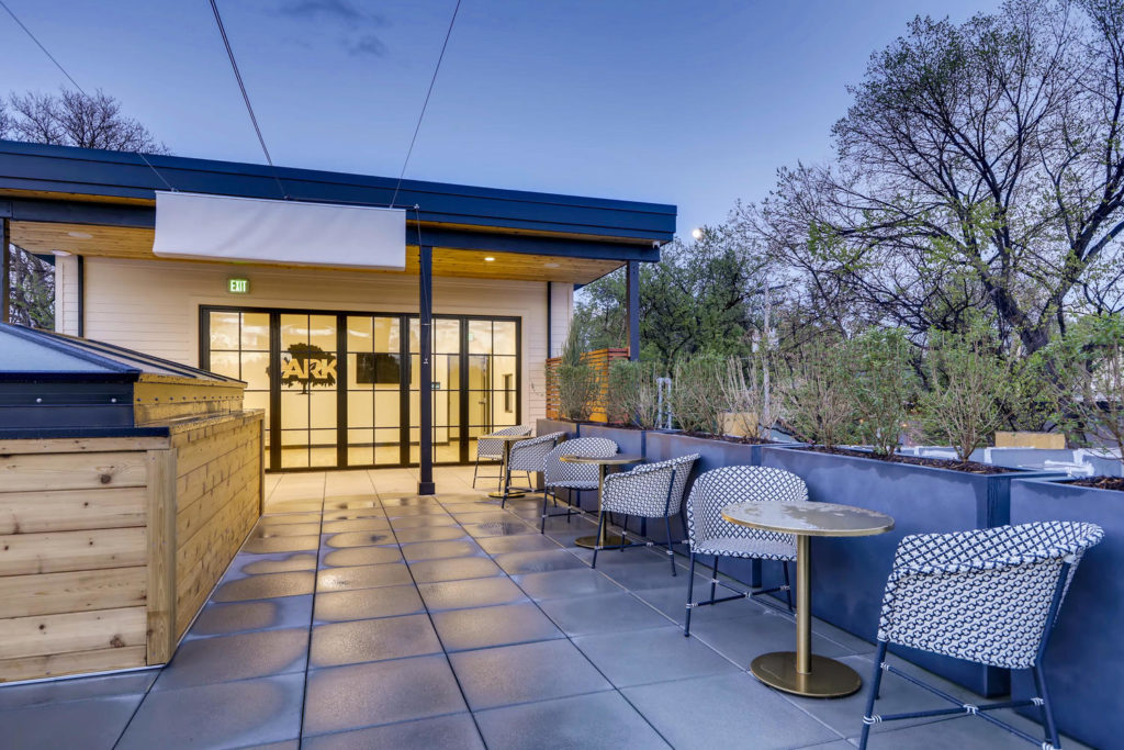 Outdoor patio at Park Coworking