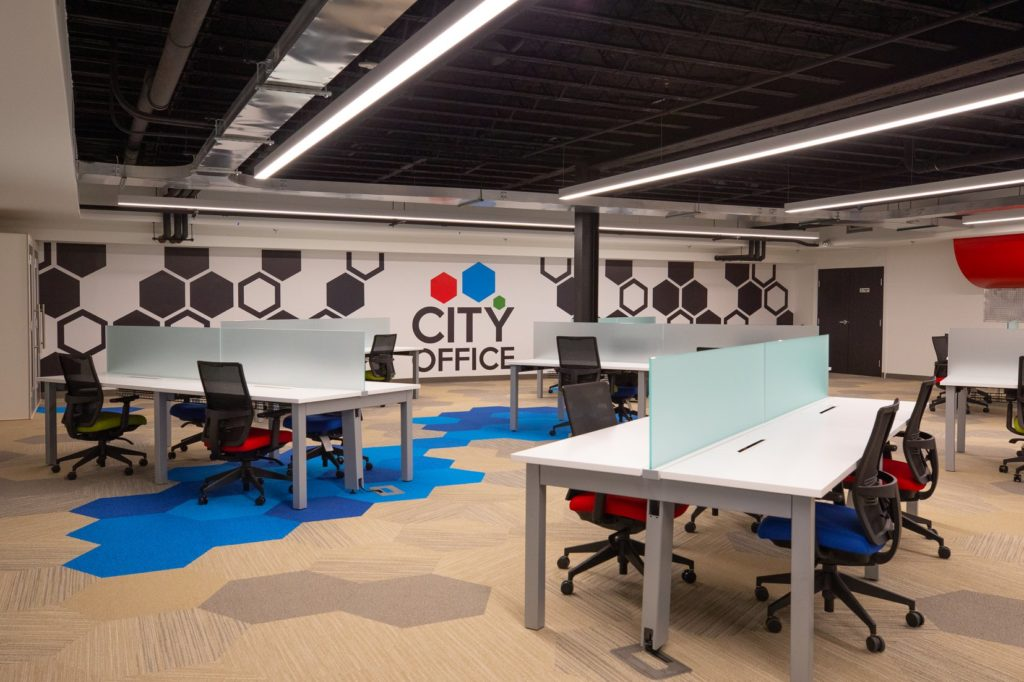 Shared Desk Space at City Office