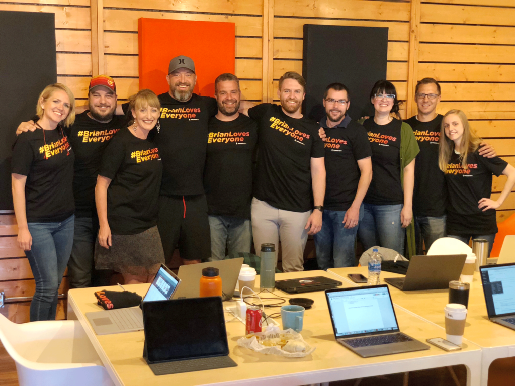 The Proximity Team April 2019 wearing #BrianLovesEveryone