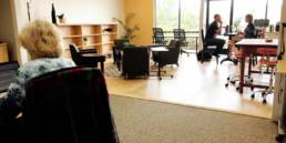 Photo of work space at Wingspace