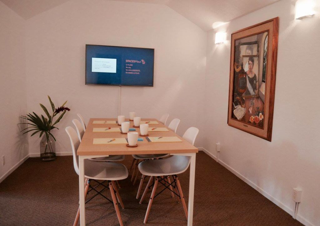 Conference room at RUA 3 with television and painting