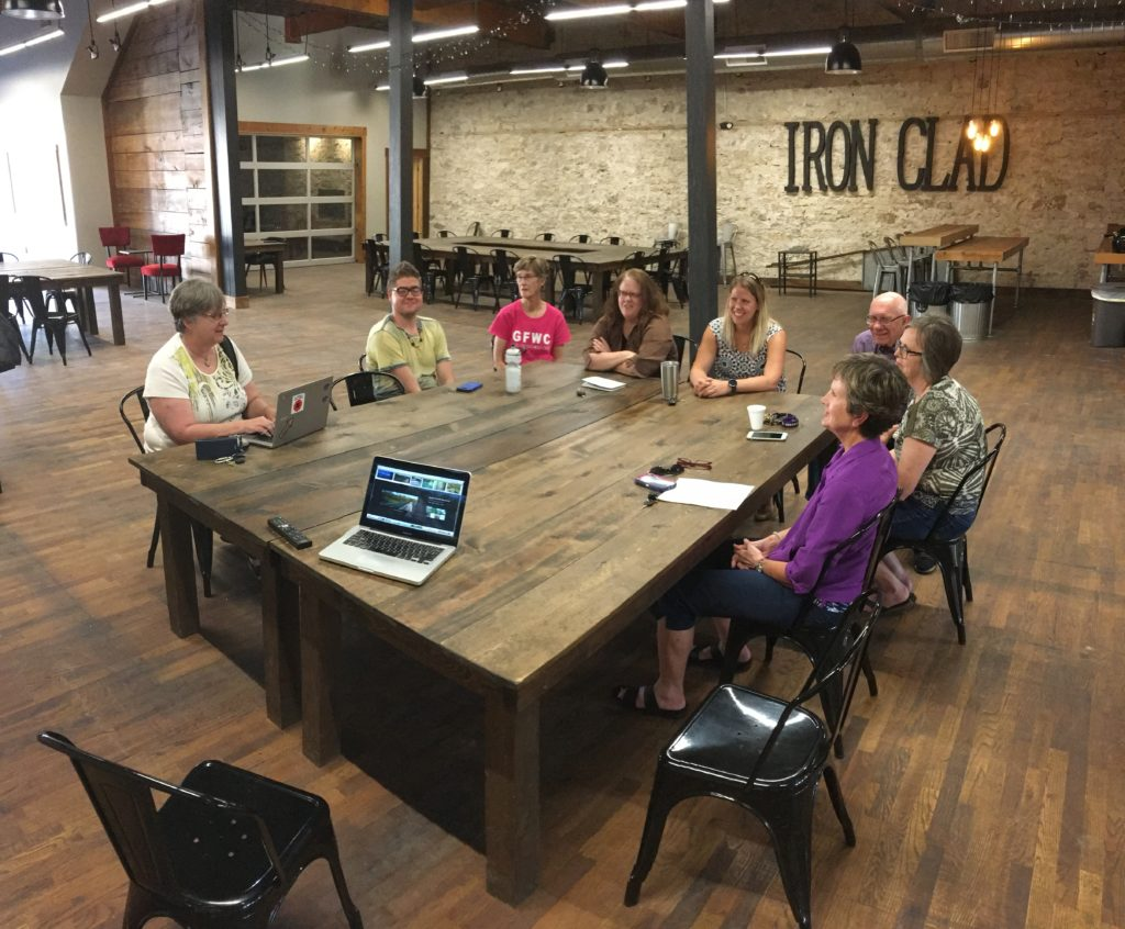 Meeting with Coworkers at Iron Clad Coworking Space