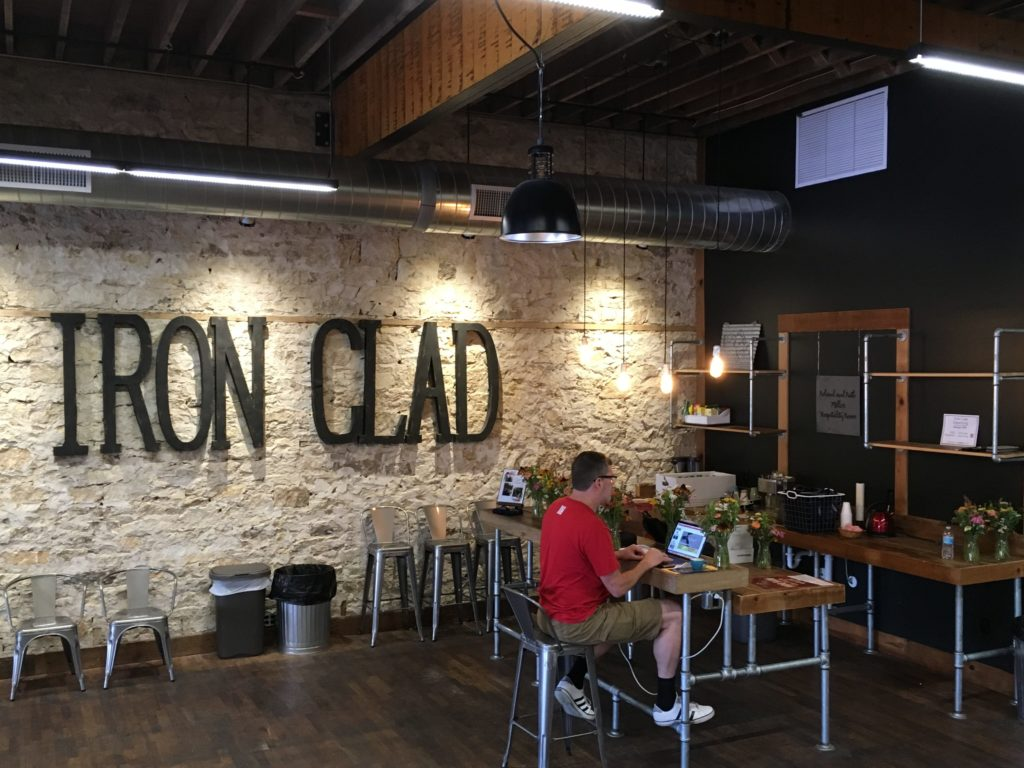 Iron Clad Coworking space bar