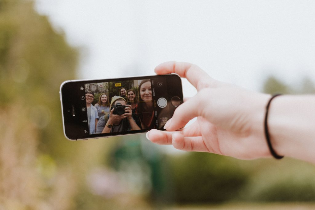 Phone with Selfie photo