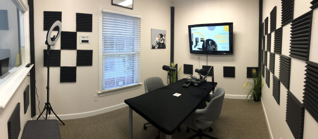The Podcast Studio in Triad Workspace