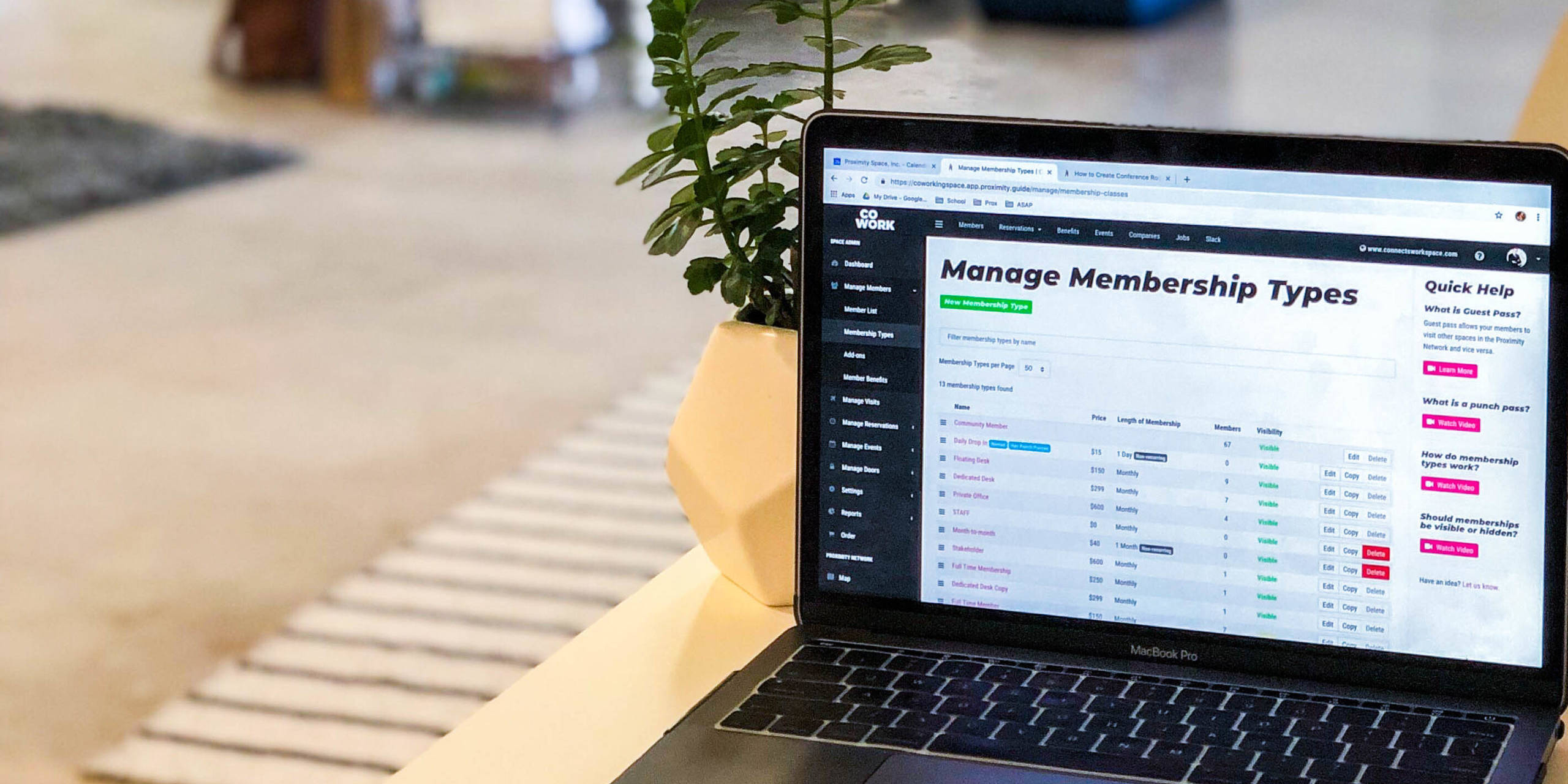 Setting up Membership Types
