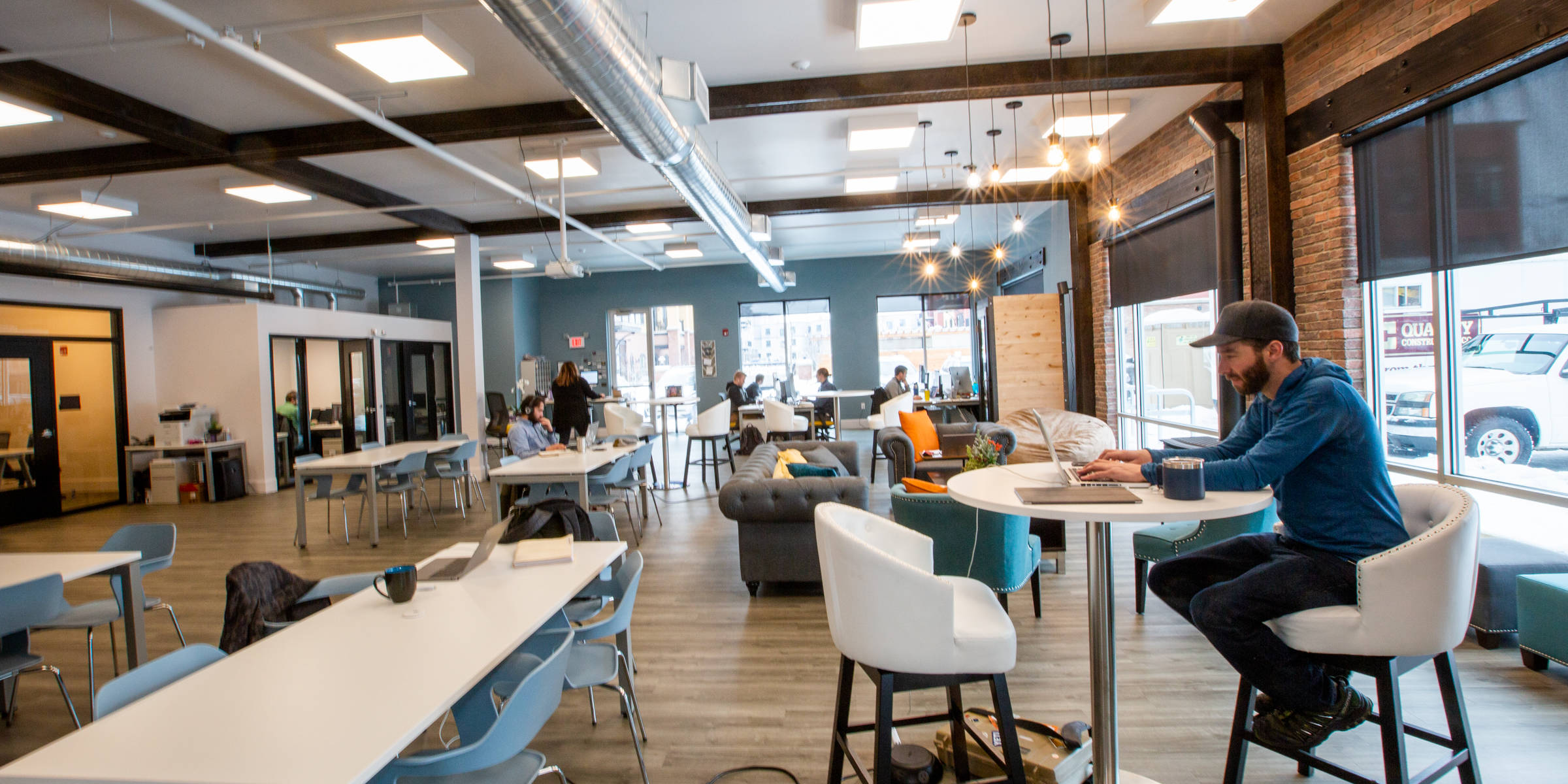 Coworking Space in Missoula, Montana - C3 WorkLounge Community Area
