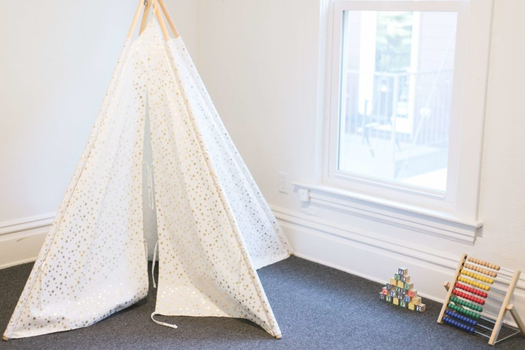 Play area at momHIVe, a coworking space with childcare in Grand Rapids, MI