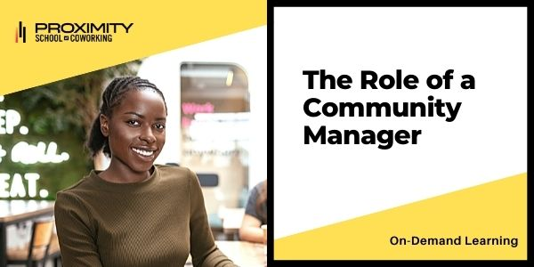 The Role of a Community Manager
